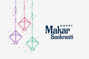 decorative kites background for makar sankranti