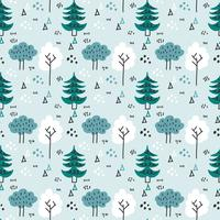Scandinavian Winter Forest Vector Pattern