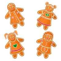 Cute Gingerbread Girls Collection