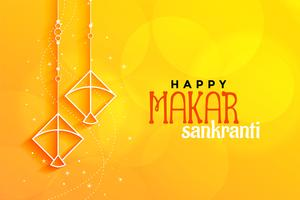 yellow makar sankranti background with kites made with lines