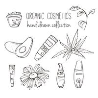 Vektor kosmetiska flaskor