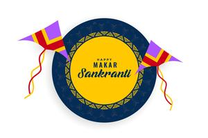 happy makar sankranti background with flying kites