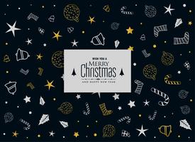 merry christmas decorative pattern on black background