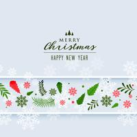 christmas snowflakes and leaves decoration background