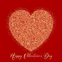 Valentinstag-Glitterherz