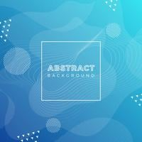 Flat Blue Abstract Vector Background