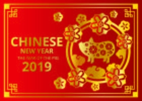 2019 Chinese New Year Vector