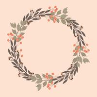 Vector Decorative Floral Frame
