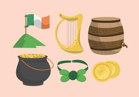 St Patricks Dag Clipart Vector Set