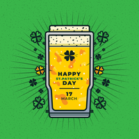 Happy st.patricks day Vector