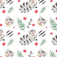 Cute Gray Tiger Pattern
