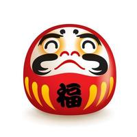 Japanese Daruma doll vector