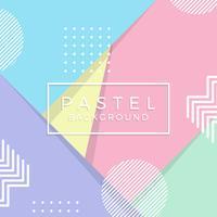 Platt Geometrisk Pastell Vector Bakgrund