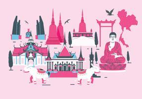Vetor de marco de Bangkok