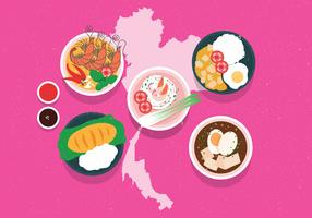 Bangkok traditional Food Vector