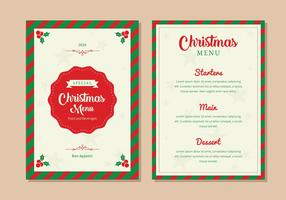 Christmas Menu Dinner Template