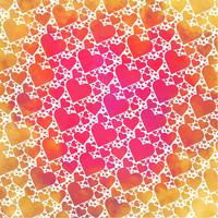 Vector Watercolor Hearts Background
