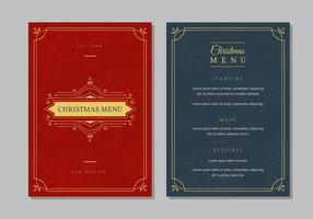 Modello di cena menu di Natale
