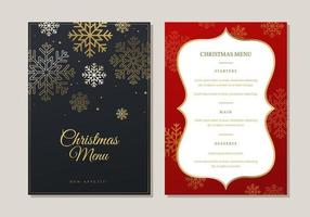 Christmas Menu Dinner Template vecteur