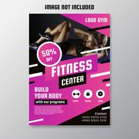 fitness center flyer vector