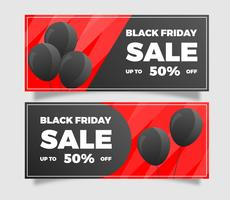 Flat Black Friday Sale Banner