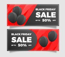 Flat Black Friday Sale Banner