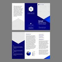 Modelo de Brochura - profissional azul