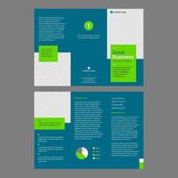 Professional Brochure Template Turqoise Green