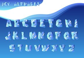 Icy Alphabet Vector