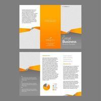 Professional Brochure Template Orange vector
