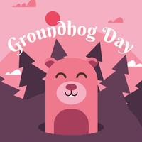 groundhog dag vektor design