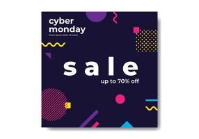Bannière Géométrique Cyber Monday