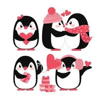 Vector Cute Penguins
