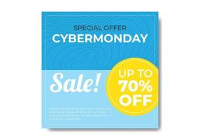 Cyber Monday Minimalist Banner vector