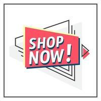 Shop Now! vector