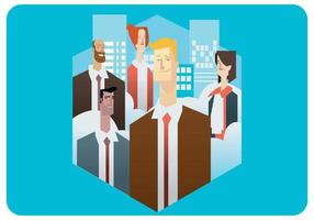 International Business People Vector