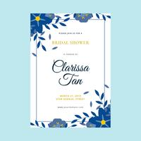 Bridal Shower Invitation Vector Mall
