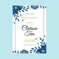 Bridal Shower Invitation Vector Template