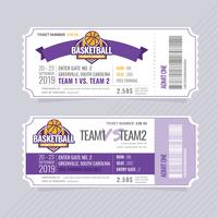 Billets de Basketball Vector