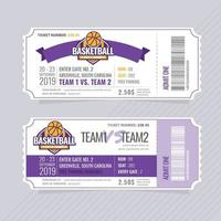 Vector Basketball Tickets