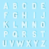 Flat Ice Alphabet Font Vector
