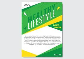 Modern Healthy Flyer vector