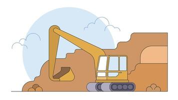 Backhoe Vector