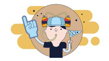 Beer Hat Fan Vector