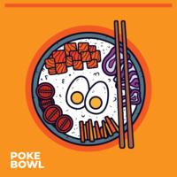 Poke Bowl-Vektor