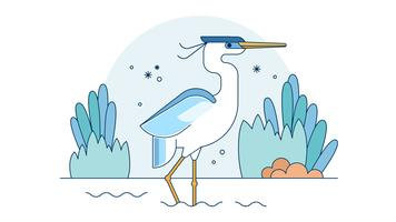 Blue Heron Vector