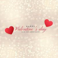 beautiful valentines day hearts on bokeh background