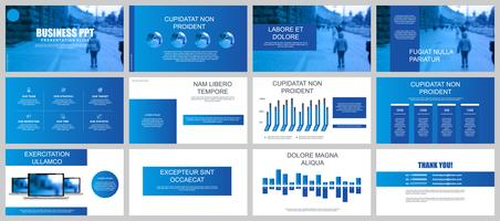 Blue Business Presentation Slide Templates