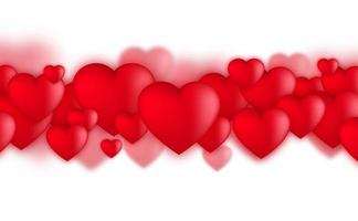 Valentines day hearts, Love balloons on white background