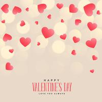 stylish hearts background for valentines day